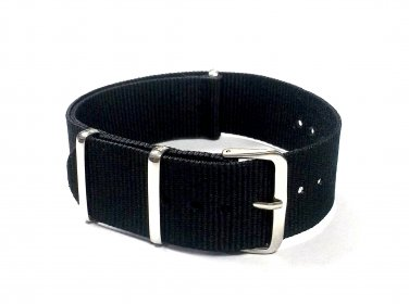 Military G10 Nylon Black Watchstraps Watch Straps Band 22mm FREE SHIPPING