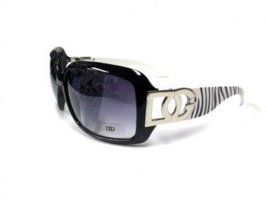 Womens Women Fashion Metal Logo Zebra Printed Sunglasses 157Z