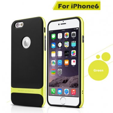 Rocks iPhone 6+ Plus TPU/PU Protective Back Case Green Color