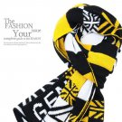 Union Jack UK Plaids Check Woolen Knit Wrap Shawl Scarf Yellow color