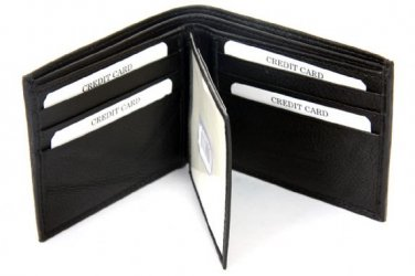 BRAND NEW MENS QUALITY LUXURY SOFT BLACK REAL LEATHER WALLET 2510