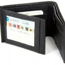 BRAND NEW MENS QUALITY LUXURY SOFT BLACK REAL LEATHER WALLET 2552