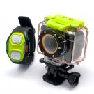 Full HD Sports Action Camera-1080p Video, Wi-Fi, Wrist Strap Remote