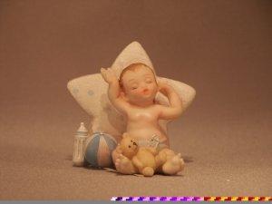 Sleeping Baby Boy with Star