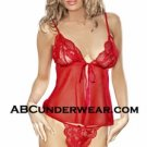 Sheer Baby Doll Set By Abcunderwear