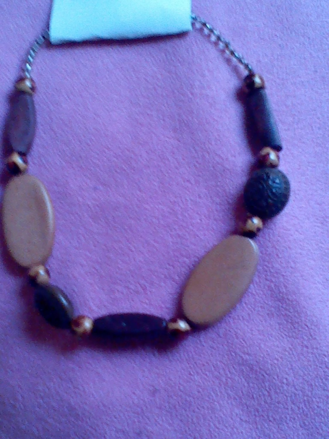 Ethnic Wooden Bead Choker