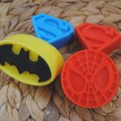 Soap Handmade Superhero Logo soaps – batman, spiderman, superman - birthday gift, party filler