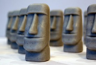 Soap Handmade Easter Island Moai statue soaps x 4 � Christmas gift, stocking filler