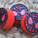 Soap Handmade Spiderman Logo soaps with black webbing – birthday gift, party filler