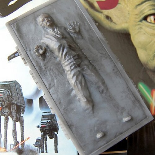 Soap Handmade Han Solo in Carbonite Soap, Star Wars, birthday present, party filler, fun bathtime