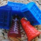 Soap Handmade Doctor Who Soaps x 3 - Tardis, Dalek - Gag, Gift, Party Favor, Shower Favor