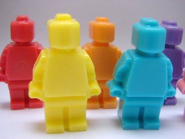 Handmade GIANT Lego Man Soap x 2 � birthday present, party filler