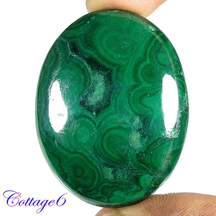 Certified 90.90Cts. NATURAL GREEN MALACHITE CABOCHON GEMSTONE C6 199