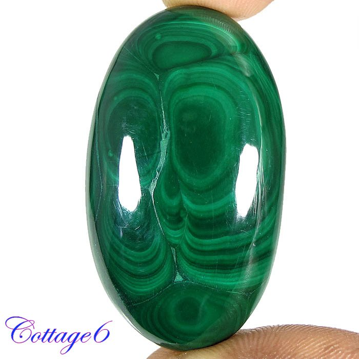 certified 116.51Cts. NATURAL GREEN MALACHITE CABOCHON GEMSTONE C6 163