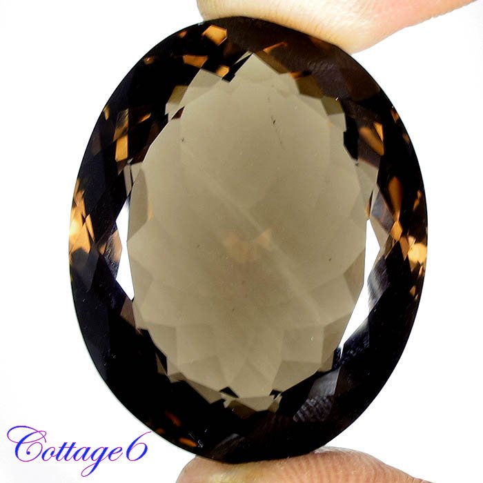 Certified 78.29Cts. NATURAL SMOKY QUARTZ CUT GEMSTONE C6-47