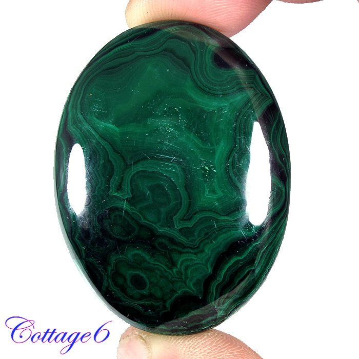 Certified  142.50Cts. NATURAL GREEN MALACHITE OVAL CABOCHON GEMSTONE C6-2197