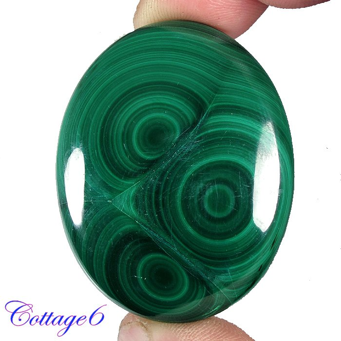 Certified 136.80Cts. NATURAL GREEN MALACHITE OVAL SHAPE CABOCHON GEMSTONE C6-2199