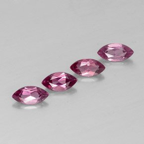 Certified Natural Rhodolite AAA Quality 5x2.5 mm Faceted Marquise 5 pcs lot loose gemstone