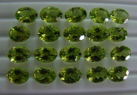 Certified Natural Peridot AAA Quality 6x4 mm Faceted Oval 10 pcs lot loose gemstone