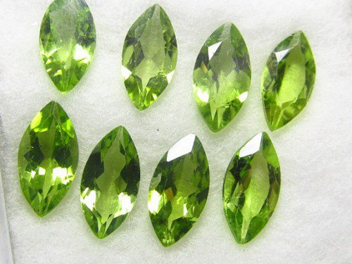 Certified Natural Peridot AAA Quality 5x2.5 mm Faceted Marquise 10 pcs lot loose gemstone