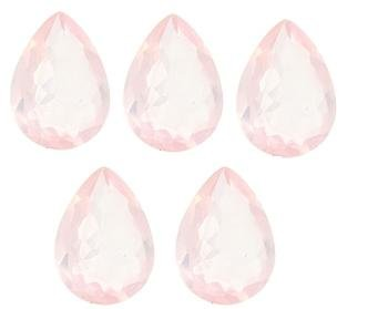 Certified Natural Rose Quartz AAA Quality 18x13 mm Faceted Pear 5 pcs lot loose gemstone
