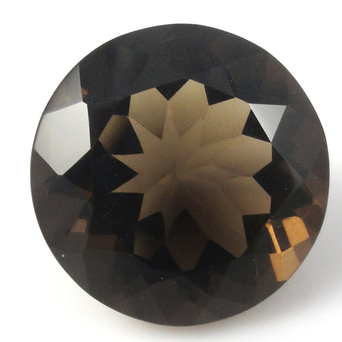 Certified Natural Smoky Quartz AAA Quality 9 mm Faceted Round 1 pc loose gemstone