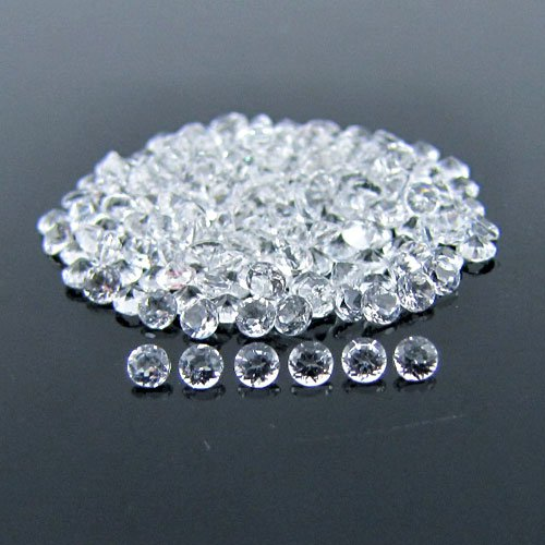 Certified Natural White Topaz AAA Quality 3 mm Faceted Round 10 pcs lot loose gemstone
