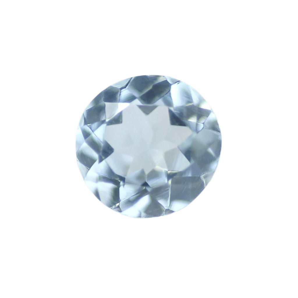 Certified Natural Sky Blue Topaz AAA Quality 6 mm Faceted Round 5 pcs lot loose gemstone