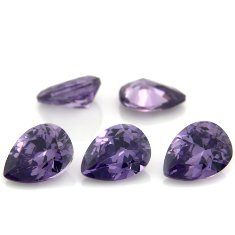 Certified Natural Amethyst AAA Quality 8x6 mm Faceted Pear 10 pcs lot loose gemstone