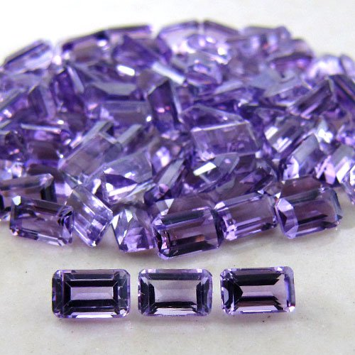 Certified Natural Amethyst AAA Quality 8x6 mm Faceted Octagon 50 pcs lot loose gemstone