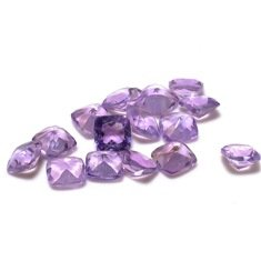 Certified Natural Amethyst AAA Quality 6 mm Faceted Cushion 10 pcs lot loose gemstone