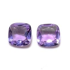 Certified Natural Amethyst AAA Quality 7 mm Faceted Cushion 5 pcs lot loose gemstone