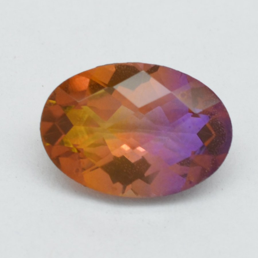 Certified Quartz Doublets Bi-color AAA Quality 16x12 mm Faceted Oval 1 pc loose gemstone