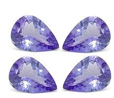 Certified Natural Tanzanite A Quality 5x4 mm Faceted Pear 50 pcs lot loose gemstone