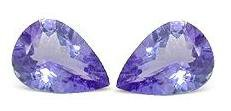 Certified Natural Tanzanite A Quality 7x5 mm Faceted Pear 1 pc loose gemstone