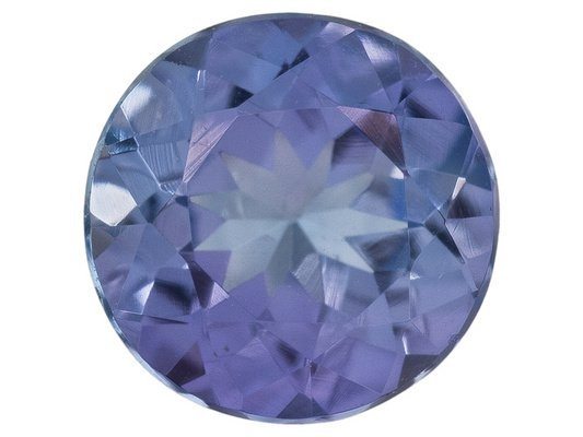 Certified Natural Tanzanite AA Quality 5.5 mm Faceted Round 1 pc loose gemstone