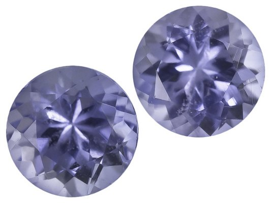 Certified Natural Tanzanite AA Quality 7 mm Faceted Round 2 pcs Pair loose gemstone