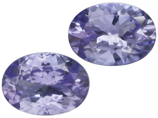Certified Natural Tanzanite AA Quality 4x3 mm Faceted Oval 10 pcs lot loose gemstone