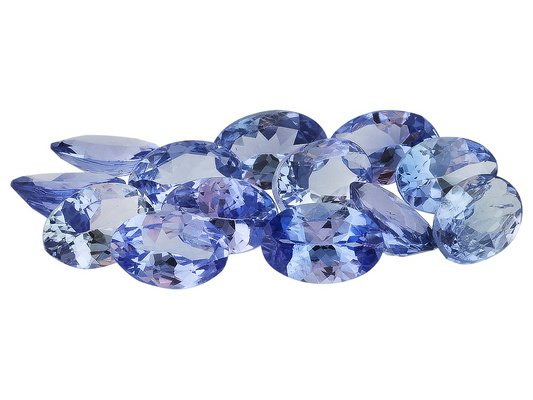 Certified Natural Tanzanite AA Quality 7x5 mm Faceted Oval 5 pcs lot loose gemstone