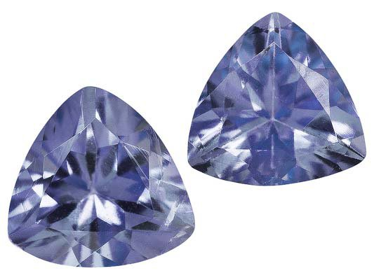 Certified Natural Tanzanite AA Quality 4.5 mm Faceted Trillion 10 pcs lot loose gemstone