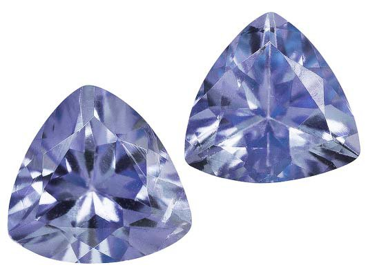 Certified Natural Tanzanite AA Quality 5 mm Faceted Trillion 2 pcs pair loose gemstone
