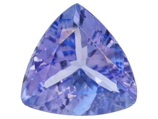 Certified Natural Tanzanite AA Quality 5.5 mm Faceted Trillion 1 pc loose gemstone