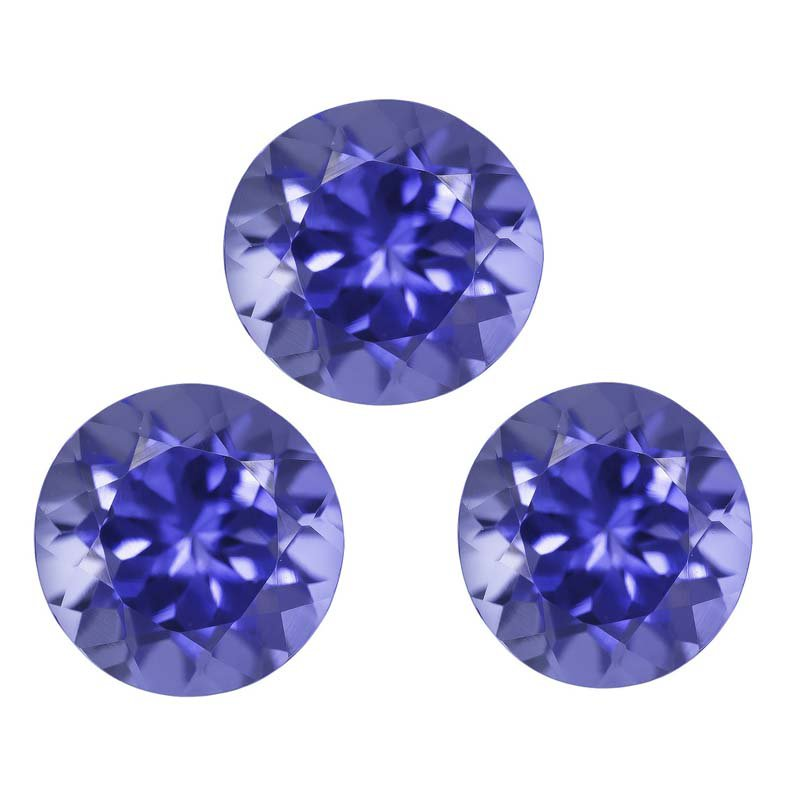 Certified Natural Tanzanite AAA Quality 4.5 mm Faceted Round 10 pcs lot loose gemstone