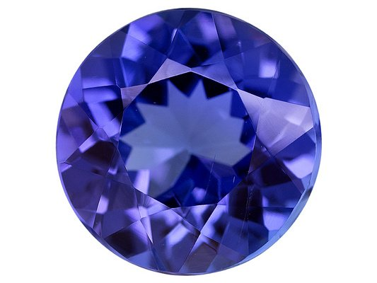 Certified Natural Tanzanite AAA Quality 7 mm Faceted Round 1 pc loose gemstone