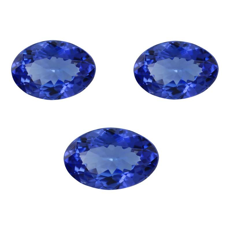 Certified Natural Tanzanite AAA Quality 8x6 mm Faceted Oval 5 pcs lot loose gemstone