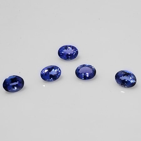 Certified Natural Tanzanite AAA Quality 8x6 mm Faceted Oval 10 pcs lot loose gemstone
