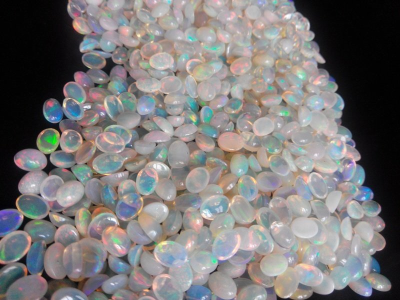 Certified Natural Ethiopian Opal AAA Quality loose Gemstone 3x4 mm Cabochon Oval 5 pieces lot
