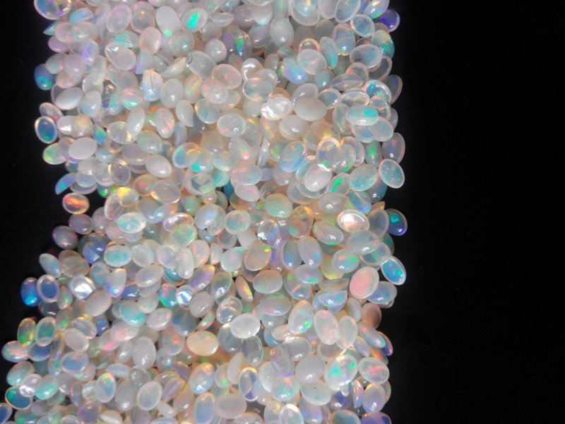 Certified Natural Ethiopian Opal AAA Quality loose Gemstone 6x8 mm Cabochon Oval 2 pieces Pair