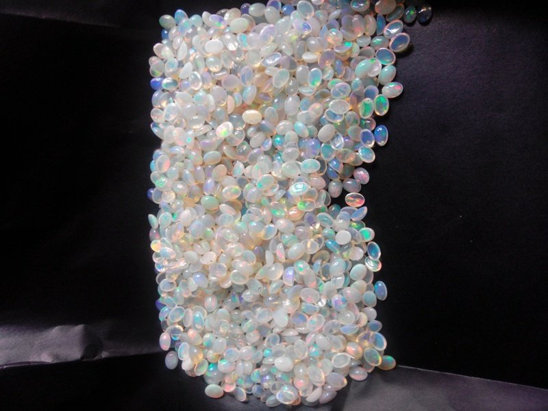 Certified Natural Ethiopian Opal AAA Quality loose Gemstone 10x14 mm Cabochon Oval 10 pieces lot