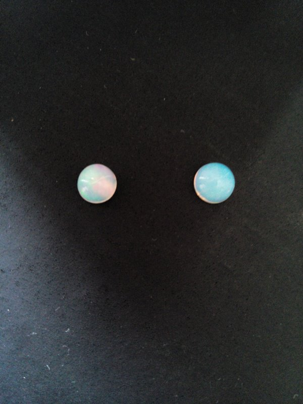 Certified Natural Ethiopian Opal AAA Quality loose Gemstone 6 mm Cabochon Round 2 pieces Pair